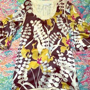 Trina Turk silk dress size 6 ❤️